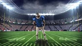 hajlik : Digital animation of an African-american football player doing a drill on a foot ball stadium field