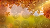 cronometragem : Digital composite of tree leaves and flowers with clocks falling down in the foreground