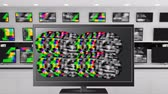 frekans : Digital animation of colorful static moving on LCD screens