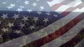 stodola : Digital animation of an American flag waving with a background of a view of the forest Dostupné videozáznamy