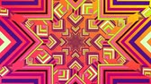 effect : Digital animation of a kaleidoscope star pattern