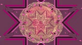 imagens : Digital animation of a mandala image. The image has different shapes and patterns Stock Footage