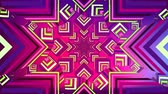эффекты : Digital animation of colourful mandala image in the shape of a concentric stars Стоковые видеозаписи