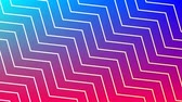 zigzag : Digital animation of white zigzag line patterns moving in the screen with a background of blue and red gradient