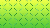 rendelés : Animation of enlarging and diminishing green lines forming a pulsating square grid on a yellow gradient background