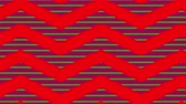 оберточной бумаги : Animation of red zig zag Christmas pattern with red and green moving stripes in the background Стоковые видеозаписи