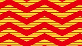 포장 : Animation of red zig zag Christmas pattern with yellow moving stripes in the background
