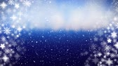 falling stars : Animation of snowflakes falling on blue background