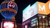 розничная торговля : 4K Time Lapse: Billboards, Signs, and Neon Lights of The Las Vegas Strip