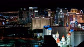 chrysler building : Aerial 4K Las Vegas Strip Time Lapse Features I-15 on The South Strip