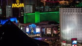 boates : Aerial 4K Las Vegas Strip Time Lapse Features The MGM Grand Resort Vídeos
