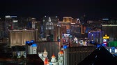 chrysler building : Aerial 4K Las Vegas Strip Time Lapse Features the Whales view