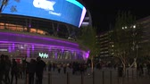 mobil : 4K ES: The new T-Mobile Arena opens for business at The Park on the Las Vegas Strip. Circa 2016