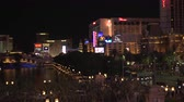 fãs : 4K ES: The Las Vegas Strip skyline features luxury resorts, hotels, and casinos. Circa 2016 Filmed using Sony FS-5 w Zeiss 28mm prime lens at 4K UHD native resolutions.