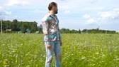 stylish : Stylish, bearded man in a green field