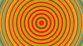 gestaltung : Bright rainbow concentric circles. Seamless loop smooth 3D animation. Abstract background Videos