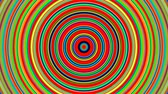 gestaltung : Rainbow color concentric circles growing. Seamless loop smooth 3D animation. Abstract background