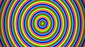 nível : Digital audio equalizer concentric colorful funny circles. Computer generated animation.