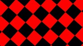 verificador : Rotating animation of black and red checkerboard Stock Footage