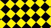 verificador : Design Black and Yellow Checkered rotating. Stock Footage