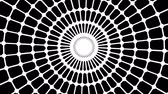 gerar : Primitive loopable web animation. Geometric round shape is spinning.