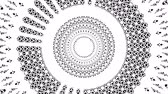 microbi : Primitive loopable animation. Geometric round shape is spinning. Filmati Stock
