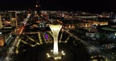 atividades : Astana, Kazakhstan - October 8, 2018: Video of the the city of Almaty, Kazakhstan. Aerial night.