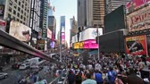New york, New york,Usa. September 2th, 2016: Pedestrian malls full of crowds on a summer Saturday afternoon in Times Square September 4, 2010 in New York City. Dostupné videozáznamy