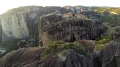 ecclesiastic : Aerial view of the monastery in Meteora, Greece