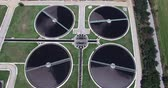 smell : aerial view of Thesaloniki a city sewage treatment plant Stock Footage