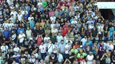 akce : Thessaloniki, Greece, Sept 3 2015: Supporters of Greek soccer club PAOK attend the contract-signing ceremony of Bulgarian striker Dimitar Berbatov with PAOK FC at Toumba Stadium Dostupné videozáznamy