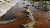 морские водоросли : Old rust dirty red pollution water vary bad for health and for living.