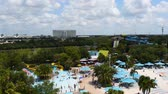 Orlando, Florida. June 03, 2019. Panoramic view of people enjoying pool and water attractions at Aquatica. 2