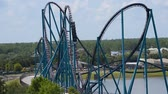kraken : Orlando, Florida. June 03, 2019. Panoramic view of people enjoying Mako rollercoaster at Seaworld 2