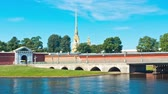 nebraska : Peter and Paul Fortress. St. Petersburg. Russia. timelapse
