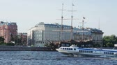 nebraska : Tourist boat in the rivers of St. Petersburg. Russia.