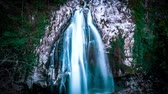 kafkaslar : Fabulous waterfall in Caucasus mountains. timelapse