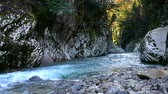 vodopád : Beautiful river in Caucasus mountains
