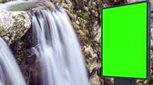deski : Billboard green screen near the Fabulous waterfall