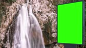 vazio : Billboard green screen near the Fabulous waterfall