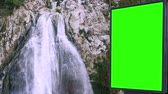 board : Billboard green screen near the Fabulous waterfall