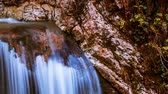 景观 : Fabulous waterfall in Caucasus mountains. timelapse