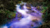 fast river : Fantastic flow of water of the mountain stream.