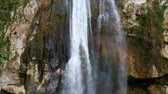 wodospad : Fabulous waterfall in the Caucasus mountains