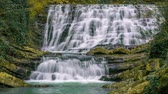 cachoeira : Fabulous waterfall in the Caucasus mountains