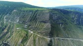 altay : Flight over the Altai mountains. Katu-Yaryk pass