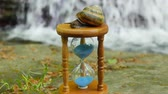 old time : Hourglass, Snail, Mountain river