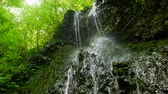 wodospad : Beautiful waterfall in Caucasus mountains Wideo