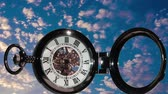 cep : Pocket watch on a background of clouds