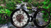 summer concept : Pocket watch on water background